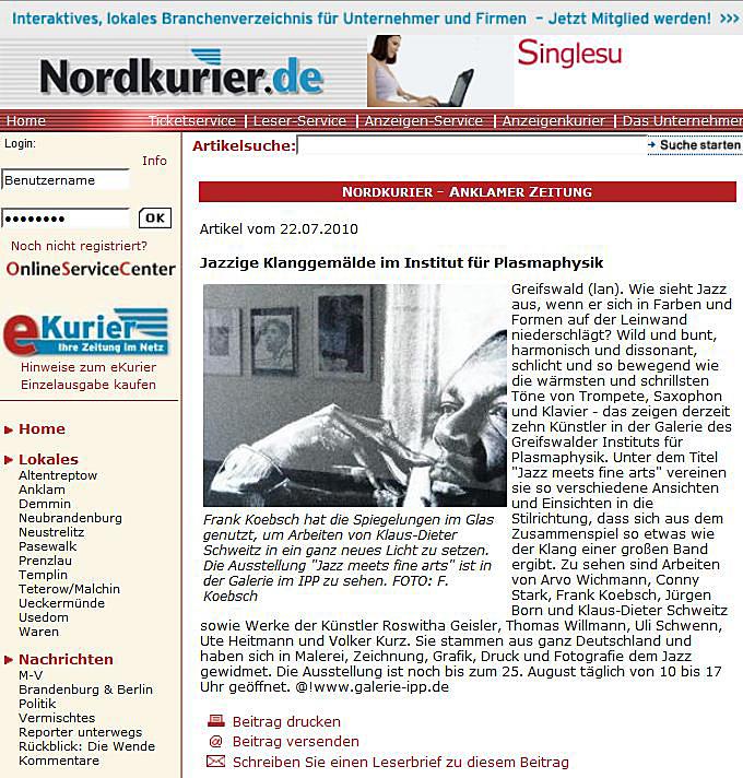 Nordkurier 2010 07 22