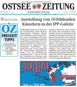 Ostsee Zeitung, Ausschnitt 2010 06 30