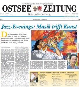 Ostsee Zeitung, Ausschnitt 2010 07 01