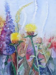 Sommer im Garten - Aquarell von FRank Koebsch (c)