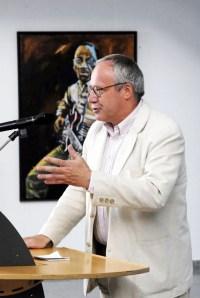 Thilo Braune erzählt über 30 Jahre Jazz in Eldena (c) Ulli Schwenn