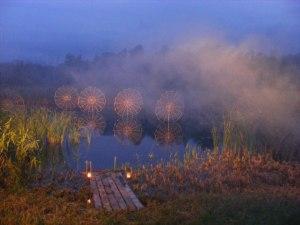 Licht Klang Nacht 2010 (4) Inszenierte Spinnennetze