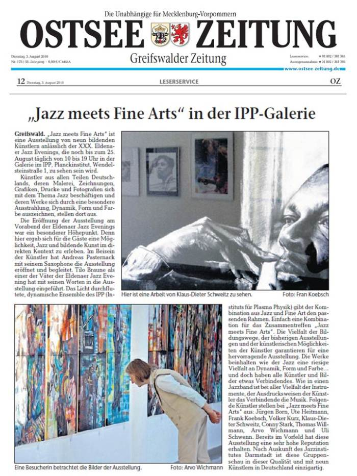 Ostsee Zeitung 2010 08 03