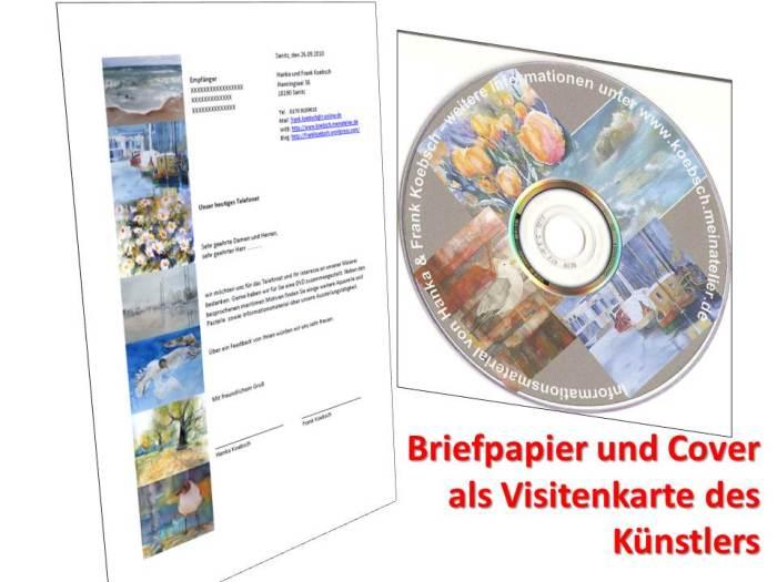 Briefpapier und Cover als Visitenkarte