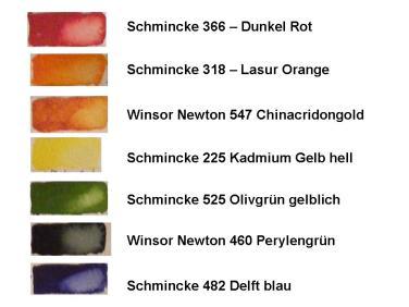 verwendete Farben