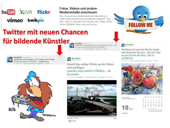 Twitter mit neuen Chancen für bildende Künstler