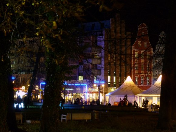 Lichtwoche Rostock 2010 in der Nähe des Klosterhofes (c) Frank Koebsch (1)