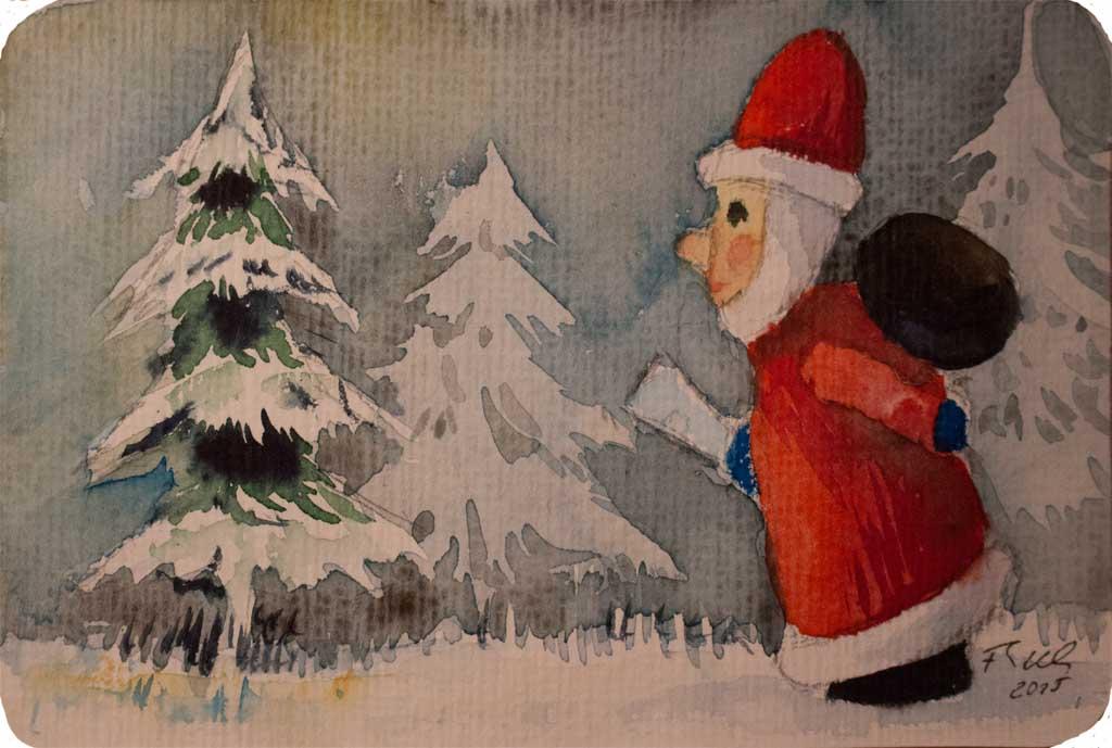 aquarelle f r die advents und weihnachtszeit bilder. Black Bedroom Furniture Sets. Home Design Ideas