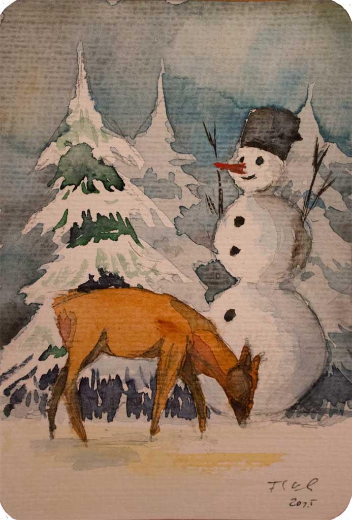 Besinnliche Weihnachtsbilder.Frohe Weihnachten Bilder Aquarelle Vom Meer Mehr Von Frank
