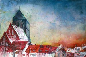 Altstadtblick (c) Aquarell von Frank Hess