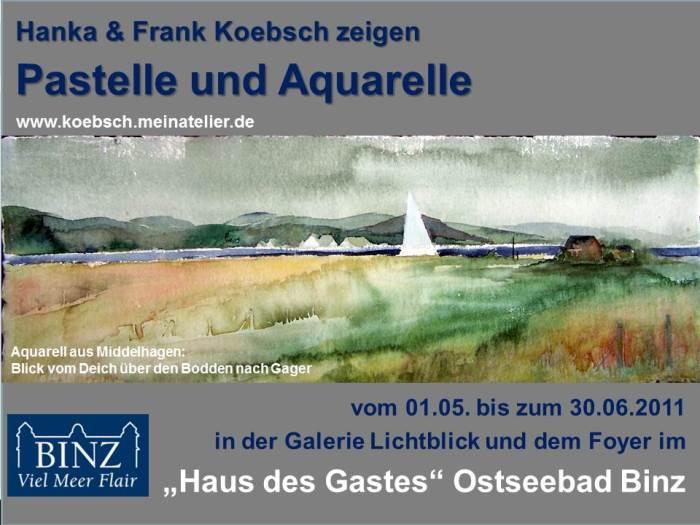 Ausstellungsankündigung für die Galerie Lichtblick und Haus des Gastes in Binz