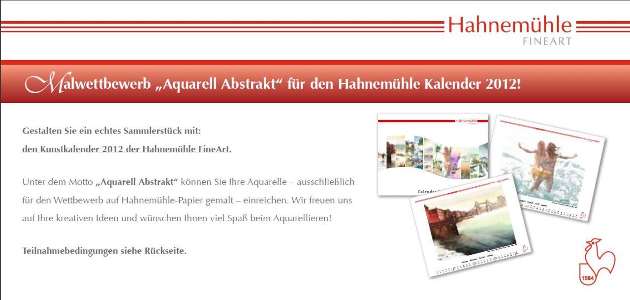 Hahnemühle Kalender Wettbewerb 2012