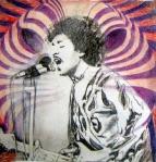 Jimi Hendrix - Hush (c) Zeichnung von Rosie Geißler