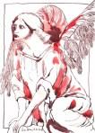 Wachender Engel (c) Zeichnung von Susanne Haun