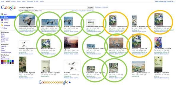 Positionierung der Bilder beim Suchbegriff Kranich Aquarell