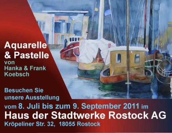Ausstellungsankündigung für unsere Ausstellung im Haus der Stadtwerke Rostock