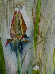 Details eines Aquarells (c) Frank Koebsch