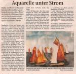 Aquarelle stehen unter Strom - Ostsee Zeitung 2006 08 22