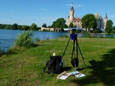 Blick auf das Motiv das Schweriner Schloss (c) Frank Koebsch