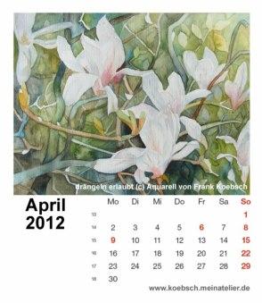 Kalenderblatt April 2012