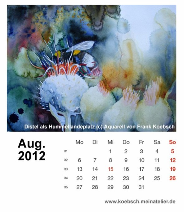 Kalenderblatt August 2012