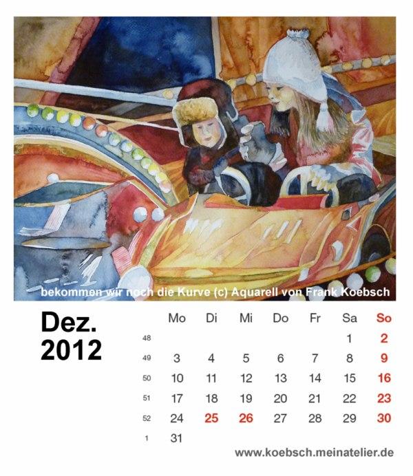 Kalenderblatt Dezember 2012