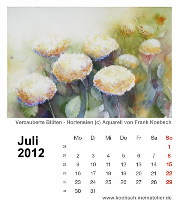 Kalenderblatt Juli 2012
