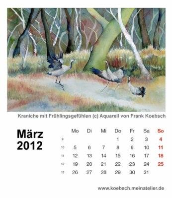 Kalenderblatt März 2012