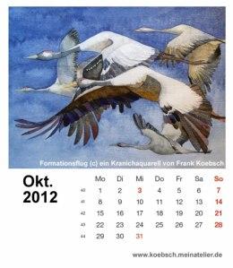 Kalenderblatt Oktober 2012