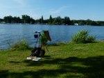 Meine Malausrüstung am Schweriner See (c) Frank Koebsch