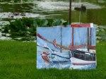 Windjammer Aquarell im Garten (c) Frank Koebsch