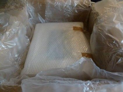 erste Verpackung in Luftposterfolie
