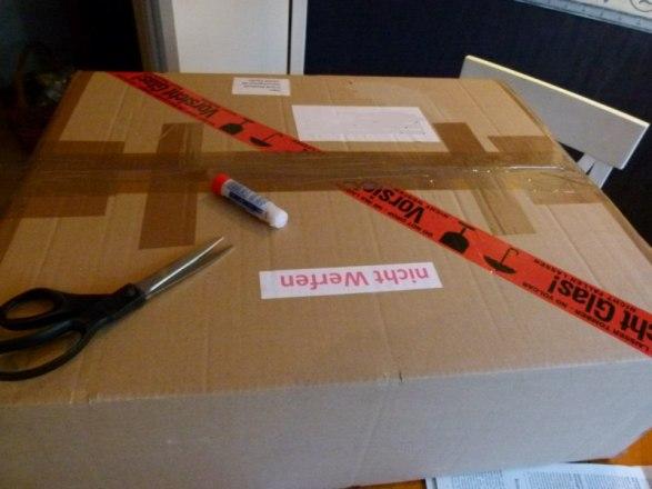 Kennzeichnung des Paketes