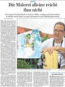 Portrait über Frank Koebsch in der OZ vom 09. August 2011