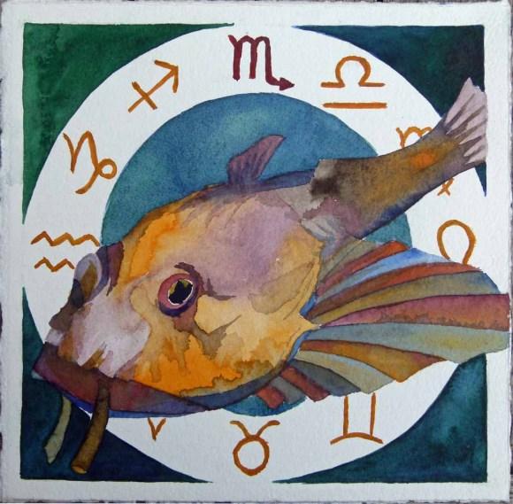 Sternzeichen (See) Skorpion (c) Aquarell von Frank Koebsch