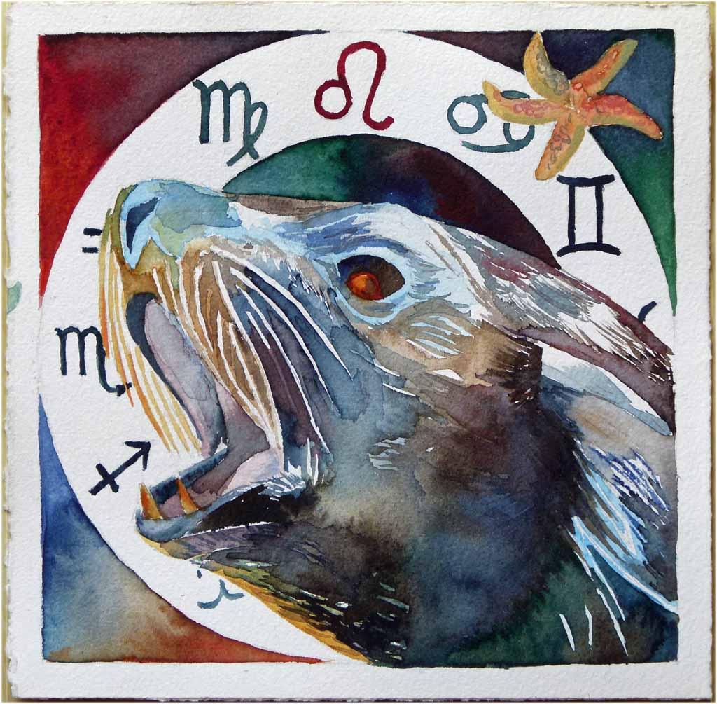 Sternzeichen (See)Löwe (c) Aquarell von Frank Koebsch