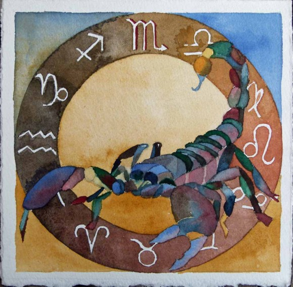 Sternzeichen Skorpion (c) Aquarell von FRank Koebsch
