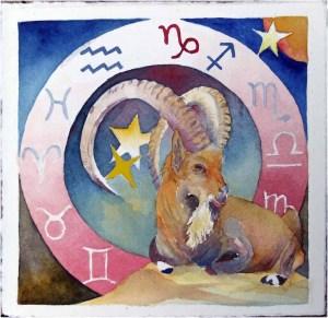 Sternzeichen Steinbock (c) Aquarell von Frank Koebsch