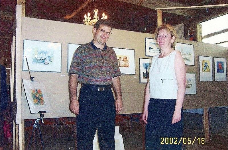 Hanka und Frank Koebsch bei der Ausstellung in Teutendorf