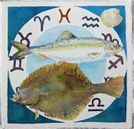 Sternzeichen Fische der Ostsee (c) Aquarell von Frank Koebsch