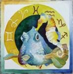 Sternzeichen Fische der Südsee (c) Aquarell von Frank Koebsch