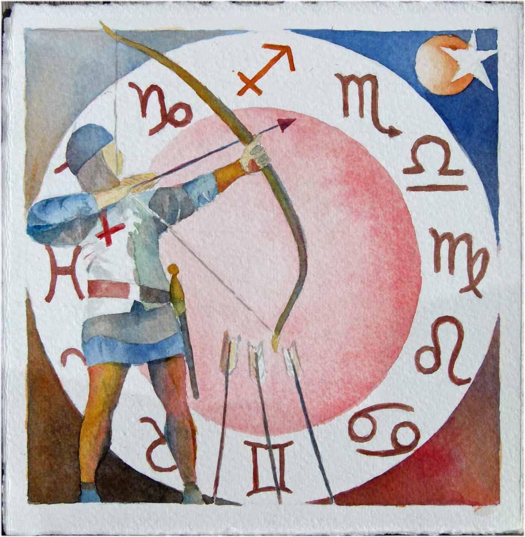 Sternzeichen Schütze (c) Aquarell von Frank Koebsch
