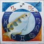 Sternzeichen Schützenfisch (c) Aquarell von Frank Koebsch