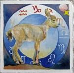 Sternzeichen Steinbock - wird garantiert bockig (c) Aquarell von Frank Koebsch
