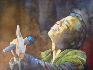 Color in the voice of Darryll Smith (c) Aquarell von Frank Koebsch