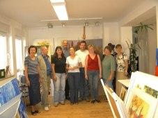 Gruppenbild in Oskars Atelier, Nürnberg 2003
