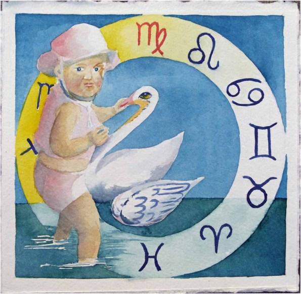 Sternzeichen Jungfrau an der Ostsee (c) Aquarell von Frank Koebsch