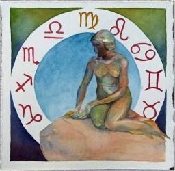 Sternzeichen Meerjungfrau (c) Aquarell von Frank Koebsch