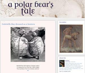 A Polar Bear's Tale zeigt Laternen Aquarell von Frank Koebsch
