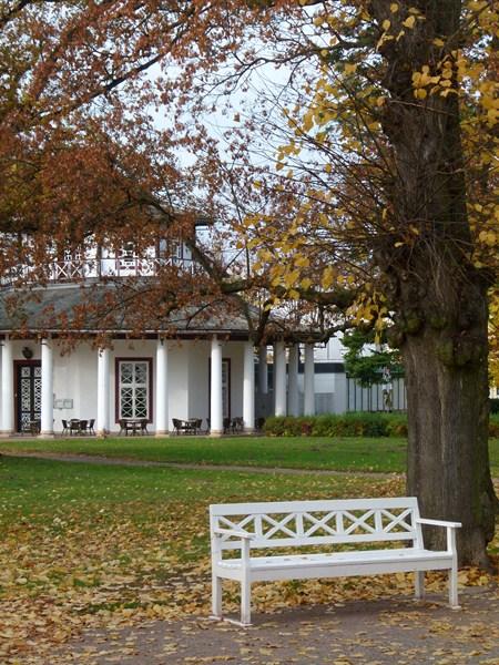 Weißer Pavillon auf dem herbstlichen Kamp (c) FRank Koebsch (1)